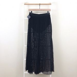 NWT Nasty Gal Semi-Sheer Net Festival Maxi Skirt